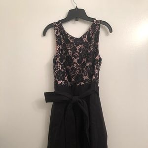 Black and pink midi dress from Le Chateau